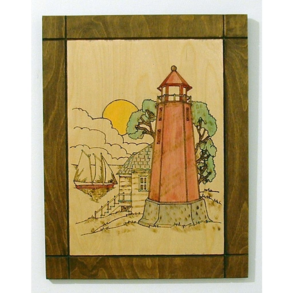 Lighthouse, Nautical, Pyrography, Wood Wall Decor Gallery at ...
