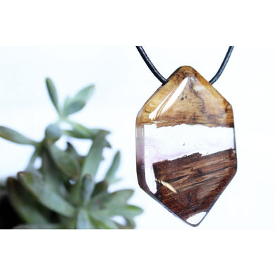 Secret Wood Necklace Resin Plant Pendant Nature Surfer Statement Product