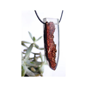 Secret Wood Necklace Resin Pendant Mens Gift For Him Woodland Terrarium Product
