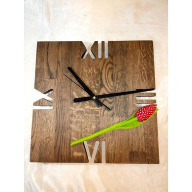 Wood Wall Clock Unique Wood Wooden Home Decor Gift For New Original Hand Made Birthday Product