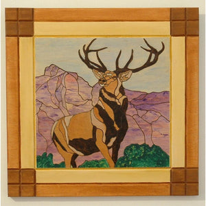 Deer Pyrography Hunters Trophy Wood Wall Art Decorative Wall