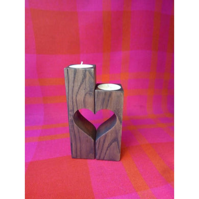 Wood Candleholder Wooden Valentines Day Gift For Him Husband Wife Her Birthday Wood Home Decor Product