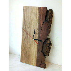 Clock Natural Wood Clock Handmade Original Unique Wall Gift For Him Gift Her Kitchen Valentines Day Product