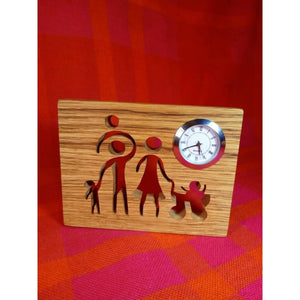 Clock Gift For Family Wood Scroll Saw Handmade Wife Husband Housewarming Home Decor Present Product
