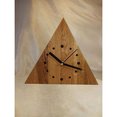 Wooden Clock Wall Valentines Gift Wood Triangle Clock Husband Housewarming Boyfriend Birthday Product
