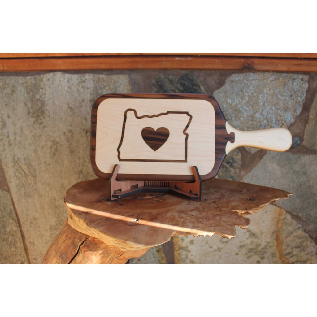 Oregon Love Wood Inlay Cutting Board From Maple Walnut And Bamboo Normal