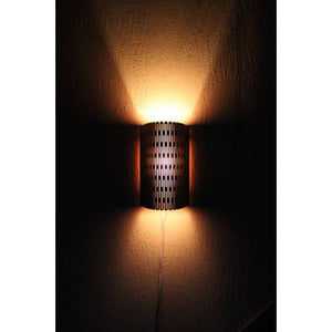 Wooden Sconce Light Warm Tone With Dimmer Easy To Hang Laser Cut Normal