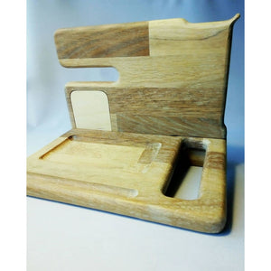 Docking Station Gift For Him Husband Boyfriend Father Wood Docking Night Stand Iphone Personalized Product