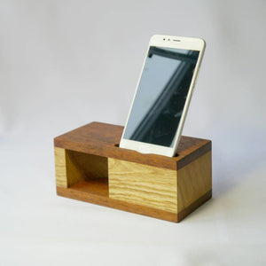 Wood Acoustic Speaker Iphone Handmade Wood Amplifier Passive Cell Phone Dock Gift For Him Husband Birthday Product