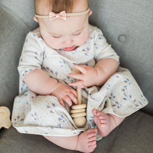 Baby Shower Gift Rattle - Natural Wooden Toy - Product
