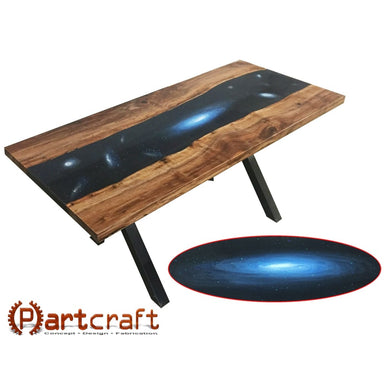 Large Galaxy Themed Resin River Table. Suitable For Dining Or Conference Table Normal