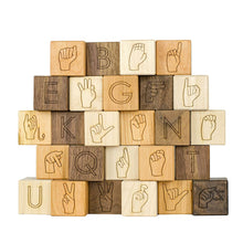 Sign Language - Asl Wooden Blocks - Baby Shower Gift - Teacher Gifts Product