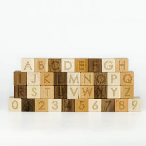 Letter Blocks - Baby Gift - - Unique - Waldorf Toys - Learning Product
