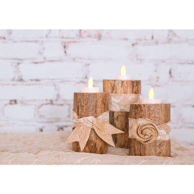 Log Tea Light Votive Holder Set Of 3/wedding Center Piece/bulk Orders Product