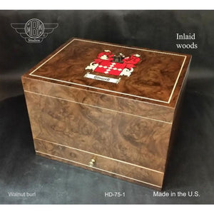 Humidor - Personalized Hd-75-1 Free Shipping Within The U.s.