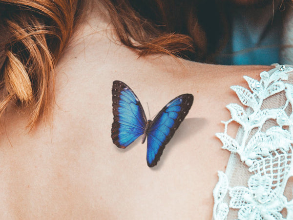 Realistic 3D Blue Morpho Butterfly