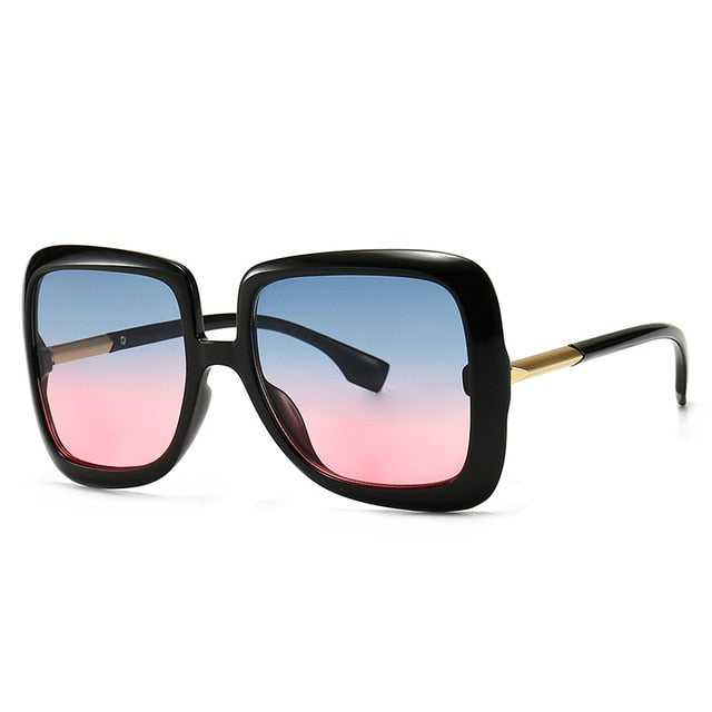 Calanovella Men Women Sunglasses Cool Eighties Retro Oversized Square 2020 Men Womens Stylish Vintage Fashionable Big Large Frame Shades UV400 black a,black b,blue yellow,blue pink,yellow stripes,leopard 34.99 USD