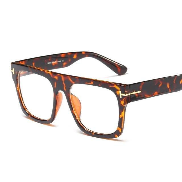Calanovella 2020 Vintage Square Glasses for Men Women Fashionable Leopard Black Clear Transparent Lenses Glasses clear lens black frame,clear lens leopard frame,clear lens cream frame,clear lens transparent frame,clear lens blue frame,clear lens brown wine red frame 34.99 USD