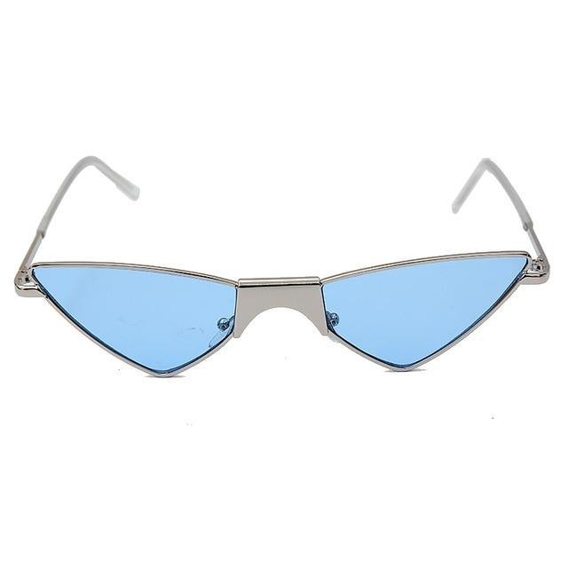 Calanovella Steampunk Cat Eye Cool Triangle Steampunk Cat Eye Sunglasses for Women Men Stylish Vintage Wrapped Eighties Retro Sunglasses Trendy New Design Glasses UV400 blue,silver black,yellow,silver,champagne,black,black clear,red 34.99 USD