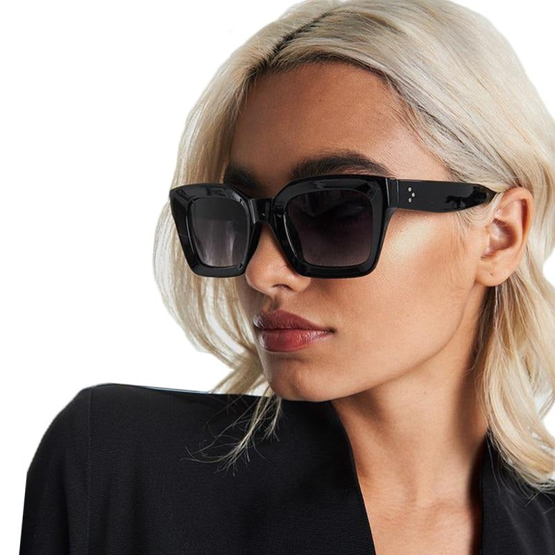 Calanovella Retro Shades for Women Square Sunglasses 2020 Stylish White Black Clear Leopard Sun Glasses