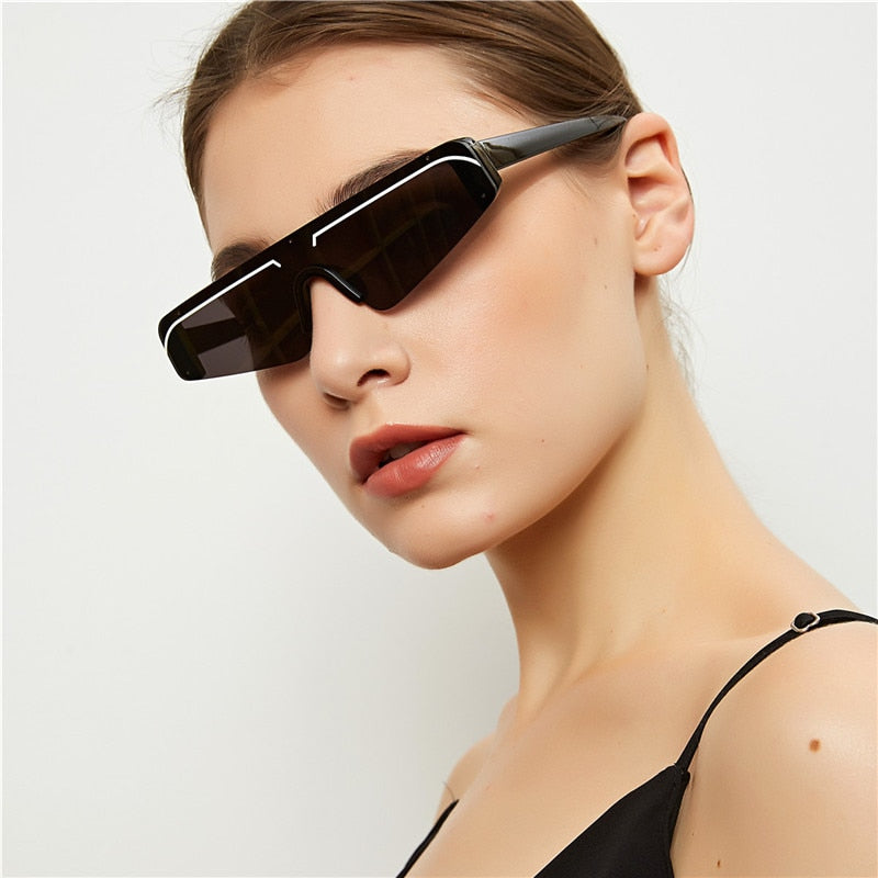 Calanovella Cool Vintage Semi-Rimless Sunglasses for Women Trendy Retro New Stylish Women's Sun Glasses UV400