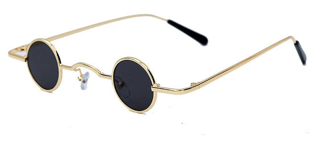 Calanovella Steampunk Small Sunglasses for Men Women Unique Vintage Retro Small Round Mirror Sun Glasses