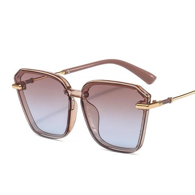 Calanovella Men Women Sunglasses Cool Square Sunglasses for Men Women Trendy Vintage Men Women's Fashionable Square Eighties Retro Gradient Sun Glasses UV400 black,brown,gray,mocha,red 34.99 USD