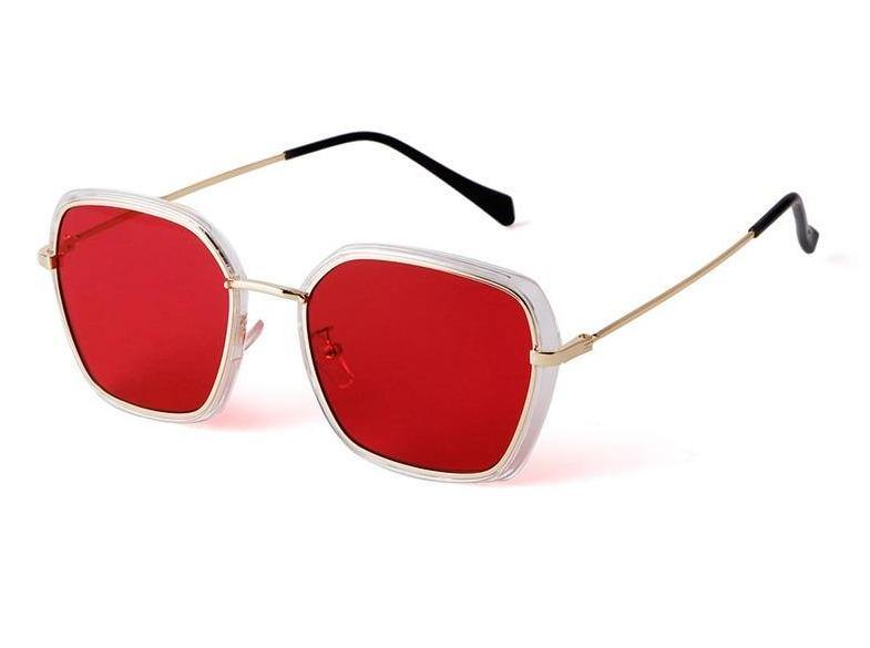 Calanovella Fashion Square Sunglasses Tint Lens Metal Frame Sun Glasses for Men Women - Calanovella.com