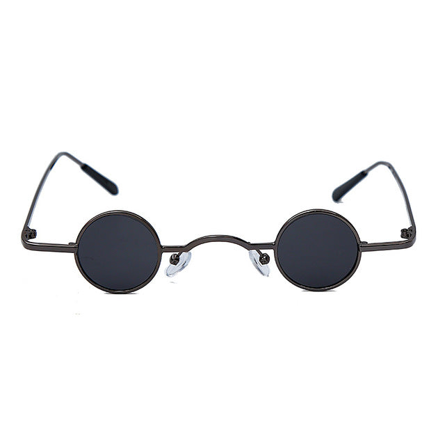Calanovella Gold Round Retro Steampunk Sunglasses for Men Women Vintage Retro Gothic Small Frames Brand Designer Glasses