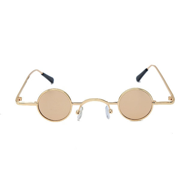 Calanovella Steampunk Round Sunglasses Gold Oval Round Eighties Retro Steampunk Sunglasses for Men Women Vintage Eighties Retro Gothic Small Punk Frames Glasses red,yellow,black,gold black,black clear,gold clear,pink,gold 34.99 USD