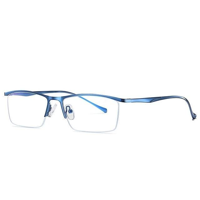 Calanovella Anti Blue Light Blocking Glasses Anti Eyestrain for Men and Women Stylish Square Rectangle Computer Gaming Glasses Eye Protection - Calanovella.com