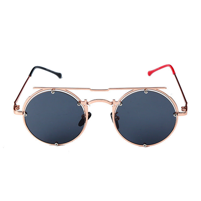 Calanovella Round Sunglasses Stylish 5 Color New Round Sunglasses Women Men Cool Eighties Retro Metal Frames Fashionable Oval Glasses UV400 black,gray silver,blue,red,silver 34.99 USD