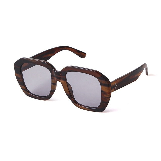 Calanovella Stylish Vintage Tortoiseshell Square Sunglasses for Men Women 2020 Cool Leopard Pink Thick Frame Eighties Retro Clear Sun Glasses UV400 black,wood,leopard,fire,stripes,gray,black clear,gray clear,stripes clear,leopard clear,silver clear 39.99 USD