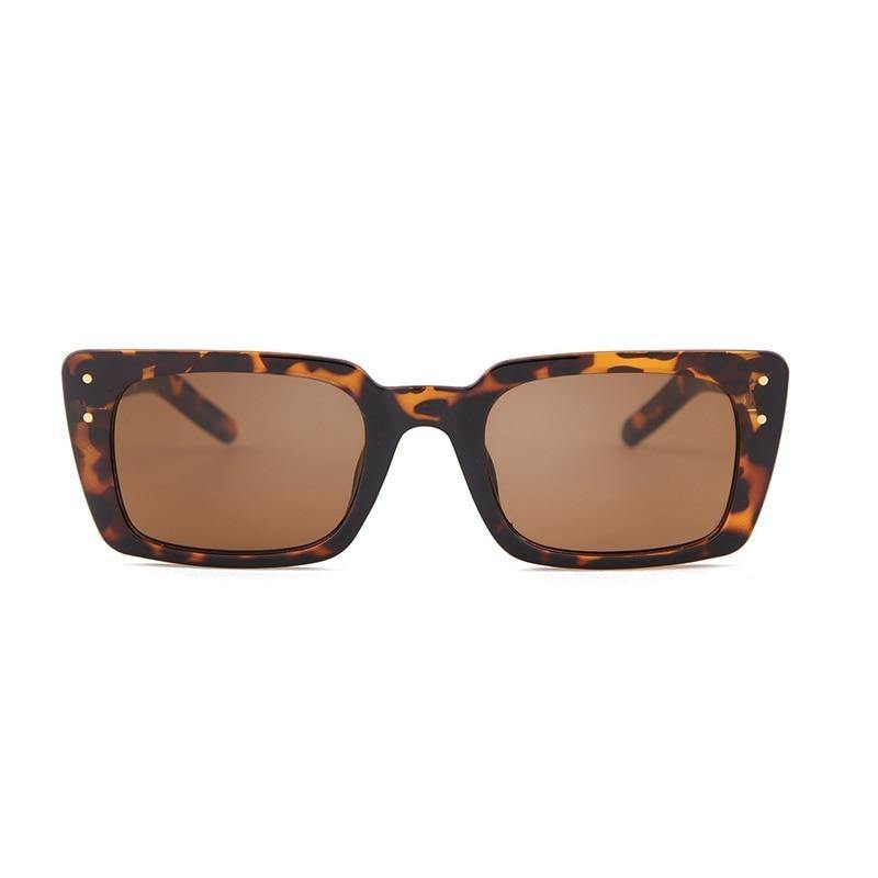 Calanovella Cool Leopard Square Sunglasses for Men Women 2020 Stylish Tortoise Shell Small Punk Rectangle Frame Sun Glasses UV400 black,leopard,beige,red 34.99 USD