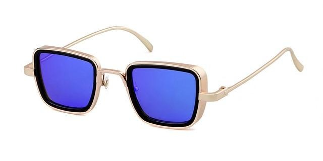 Calanovella Steampunk Square Frame Steampunk Sunglasses for Men 2020 Design Men's Cool Trendy Square Sun Glasses UV400 gold black,fade gray,brown,silver gray,blue,leopard gray,gold silver 39.99 USD