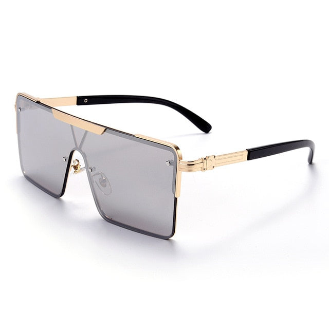 Calanovella Stylish Square Sunglasses for Men Women 2020 New Cross One Piece Oversized Vintage Retro Sunglasses