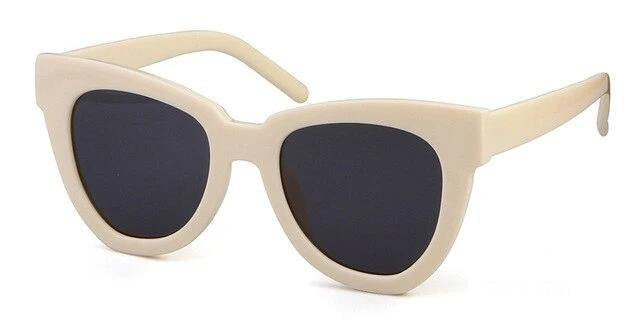 Calanovella Cat Eye Stylish Oversized Big Cat Eye Sunglasses for Men Women Cool Vintage Sunnies Tortoise Shell Big Men Women's Sun Glasses UV400 white,beige,stripes,black,leopard 39.99 USD