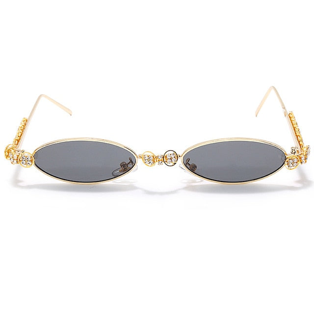 Calanovella Steampunk Round Sunglasses Diamond Glasses Round Oval Rhinestone Sunglasses for Men Women 2020 Fashionable Vintage Steampunk Diamond Sunglasses black,gold clear,silver,yellow,silver clear,pink,red 34.99 USD