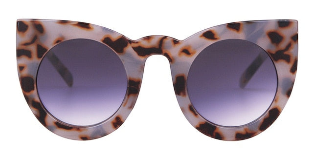 Calanovella Cat Eye Round Sunglasses Stylish Oval Round Cat Eye Sunglasses Cool 90s Oval Round Tortoise Shell Leopard Vintage Retro 2020 for Men Women black gradient,black silver,leopard,tortoise shell,white and black,white gray,black clear,transparent 34.99 USD
