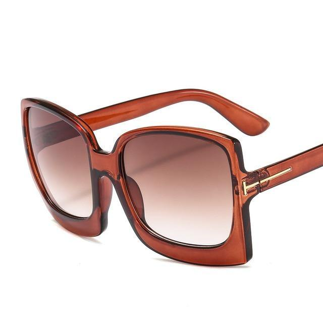 Calanovella Men Women Sunglasses 2020 Oversized Vintage Big Square Men Women's Sun Glasses UV400 black,tortoise shell,blue,brown,leopard,blue pink,purple pink 34.99 USD