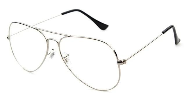 Calanovella Stylish Oversized Clear Pilot Glasses for Men Women Cool Transparent Lens Metal Frame Office Business Eyeglasses black clear,gold clear,silver clear 34.99 USD