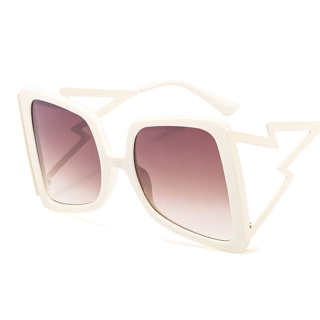 Calanovella Stylish Hollow Oversize Square Sunglasses for Men Women 2020 New Fashionable Bow Shape Bee Men Women's Sun Glasses Cool Gradient Black Pink Big Shades UV400 black,red,yellow,brown,beige brown,beige blue,pink 39.99 USD