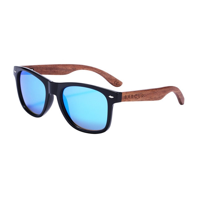 Calanovella Stylish Retro Black Walnut Wooden Sunglasses Anti-Reflective UV400