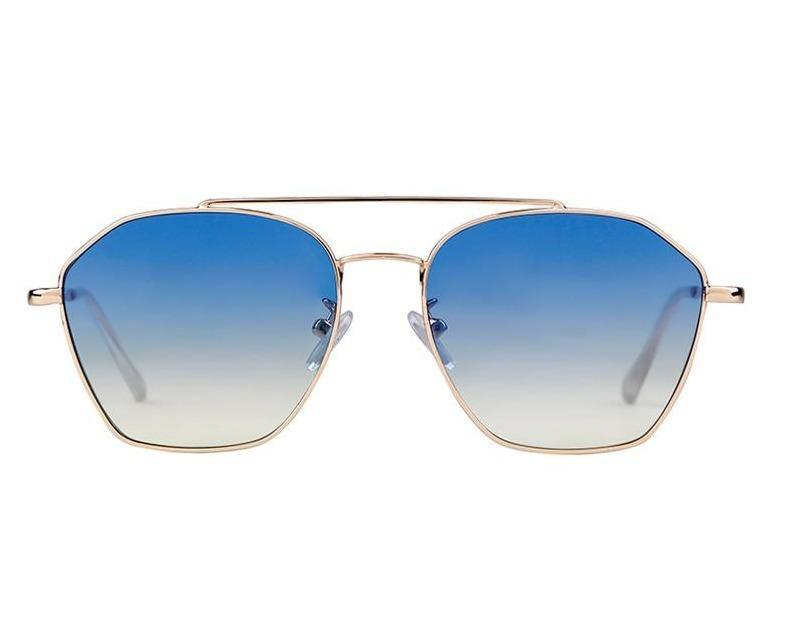 Calanovella Fashion Square Sunglasses Women Brand Design Retro Vintage Celebrity Sun Glasses Gradient Lens Blue Shades - Calanovella.com