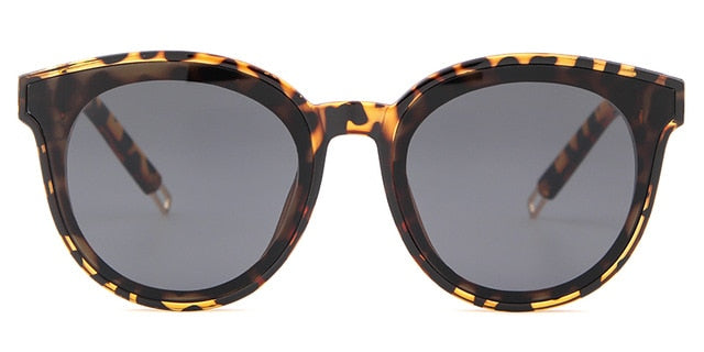 Calanovella Korean Vintage Cat Eye Sunglasses Women Men Brand Designer Tortoise Shell Frame Cateye Sun Glasses Female Black Shades