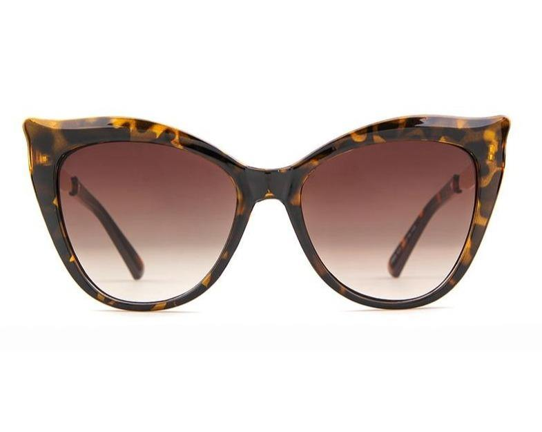 Calanovella Fashion Retro Cat Eye Leopard Sunglasses Women Brand Designer High Quality Vintage Cateye Lady Sun Glasses - Calanovella.com