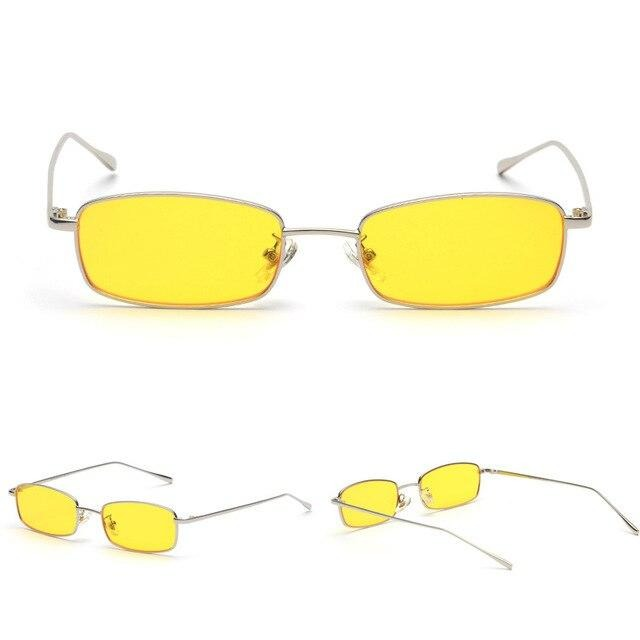 Calanovella Stylish Men's Women's Small Rectangle Sunglasses