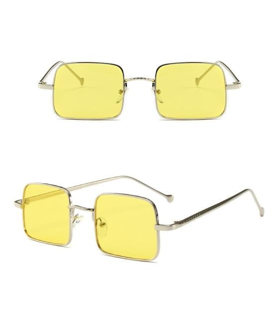 Calanovella Vintage Small Square Sunglasses Designer Trendy Fashion Rectangle Sun Glasses