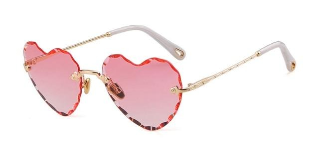 Calanovella Love Heart Shape Sunglasses Designer Vintage Stylish