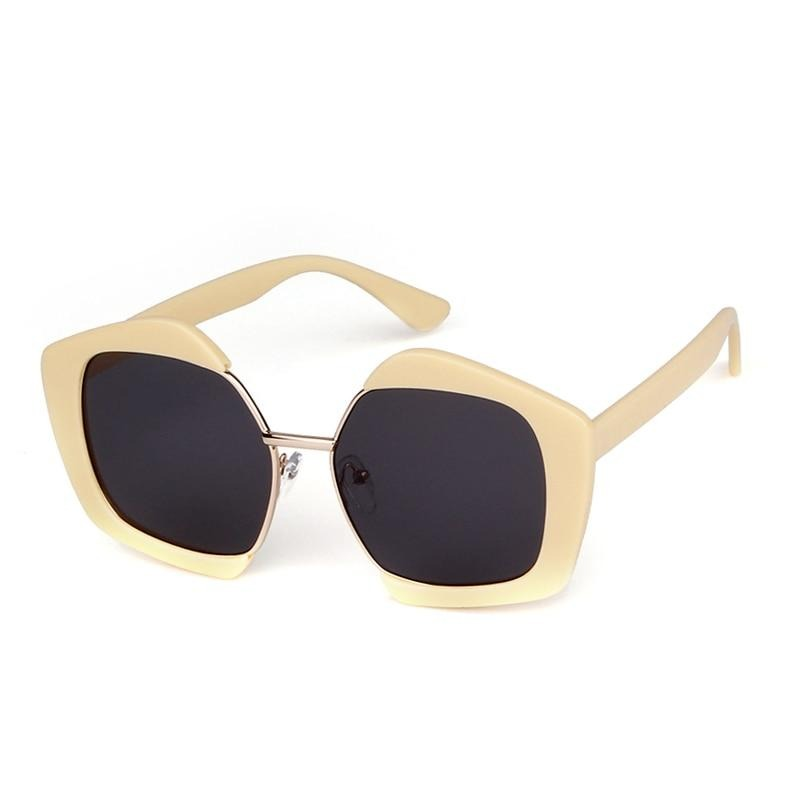 Calanovella Polygon Pentagon Sunglasses Vintage Retro Sun Glasses